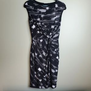 Ralph Lauren Black Knotted Dress Size 6
